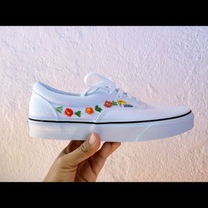 embroidered white vans